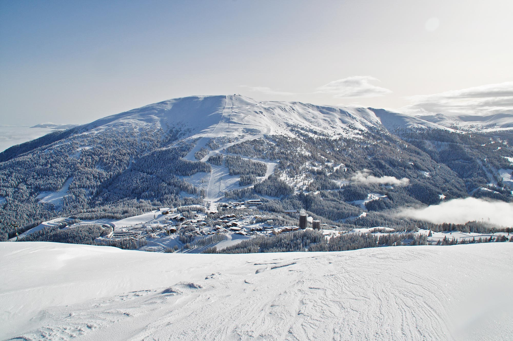 Offene skigebiete
